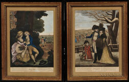 Four English Prints of the Four Seasons