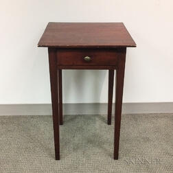 Federal Stained Poplar One-drawer Stand
