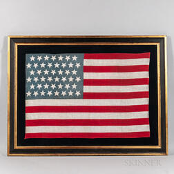 Printed Linen Forty-five-star American Flag