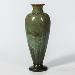 Fulper Pottery Arts and Crafts Green-glazed Vase