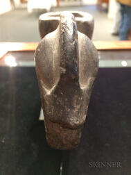 Mound Builder Stone Effigy Pipe