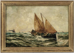 Bernard Benedict Hemy (British, 1845-1913)      Rough Seas