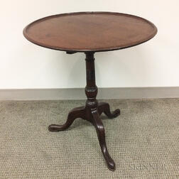 Georgian Mahogany Dished Tilt-top Candlestand
