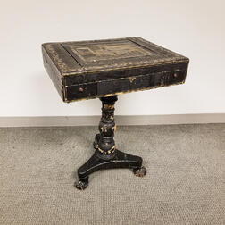 Chinese Export Lacquered Game Table