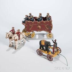 Two Cast Iron Circus Toys