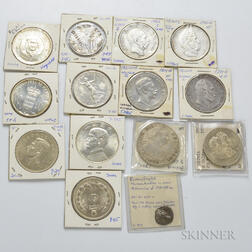 Fourteen Silver Foreign Coins