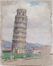 Mabel May Woodward (American, 1877-1945)      The Tower of Pisa