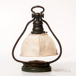 Tiffany Studios Bronze Harp Table Lamp