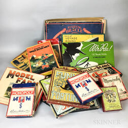 Group of Mostly Milton Bradley and Parker Brothers Vintage Tabletop Games