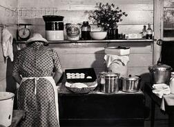 Marion Post Wolcott (American, 1910-1990) Making Biscuits for Dinner on Corn Husking Day, the Fred Wilkens Farm, near Tally Ho, North C