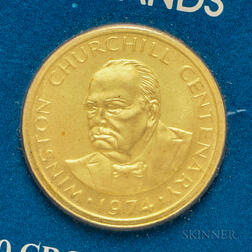 1974 Turks and Caicos 50 Crown Gold Coin