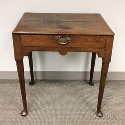 George II Oak Table with Drawer