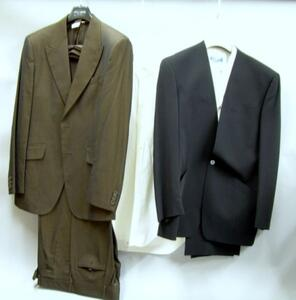 Dolce and Gabbana Brown Man's Suit, Thierry Mugler Three-Piece Tuxedo, and a   Moschino White Cotton Shirt