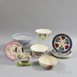 Group of Mostly English Pottery Tableware.