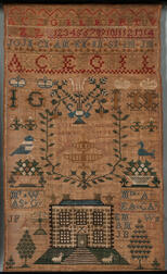 "Needlework Sampler ""Ann Gardner,"""