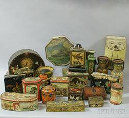 Large Collection of Vintage Advertising Tins
