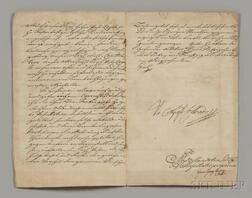 Francis I, Holy Roman Emperor (1708-1765) Document Signed, 10 October 1757.