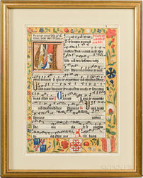 Illuminated Manuscript Leaf.