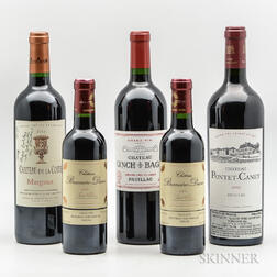 Mixed Bordeaux, 2 demi bottles 3 bottles