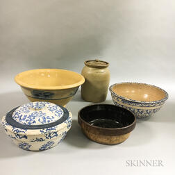 Five Stoneware Vessels
