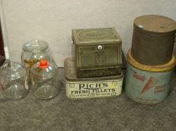 Group of Lithographed Counter and Retail Containers