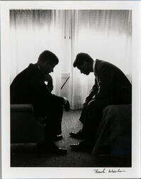 Henry G. (Hank) Walker (American, 1921-1996) John F. Kennedy and Robert F. Kennedy at Democratic Convention, Biltmore Hotel, Los Angele