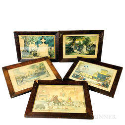 Five Framed Lithographs