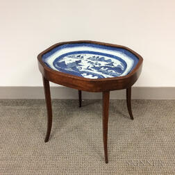 Canton Platter on Mahogany Stand