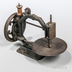 Early Hand-crank Sewing Machine