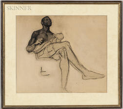American School, 20th Century      Nude Study of an African American Man