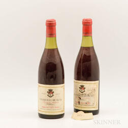 Louis Remy Chambolle Musigny Fremieres 1971, 2 bottles