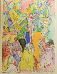 Jacques Villon (French, 1875-1963)      Crucifixion