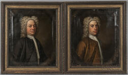 British School, 18th Century      Two Portraits, Said to Depict Henry Goldney in Quaker Dress and Henry Goldney of Whitechurch