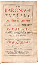 Dugdale, William (1605-1686) The Baronage of England, or an Historical Account of the Lives of the Most Memorable Actions of our Englis