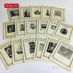 Extensive Run of the Magazine Antiques  .