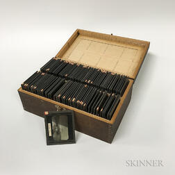 More Than 100 Glass Slides Related to Alaskan Gold Mining.     Estimate $300-500