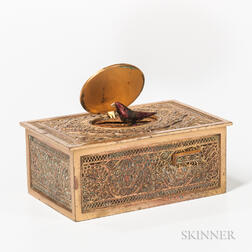 Gilt-brass Singing Bird Box Automaton