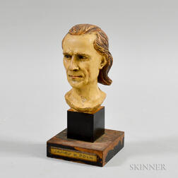 Painted and Carved Composite Bust of James K. Polk
