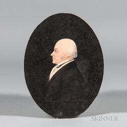 Attributed to James Sharples Sr. (Pennsylvania/New York/England, 1751/52-1811)      Profile Portrait of John Quincy Adams