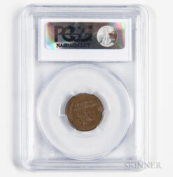 1955 Doubled Die Obverse Lincoln Cent, PCGS AU58.     Estimate $1,200-1,500