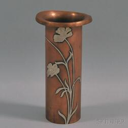 Heinz Art Metal Shop Silver on Bronze Vase