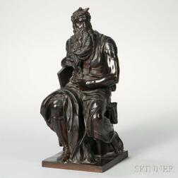 After Michelangelo (Italian, 1475-1564)       Bronze Figure of The Seated Moses