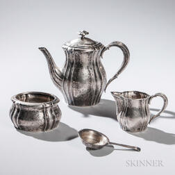 Three-piece Scandinavian .830 Silver Tea Service