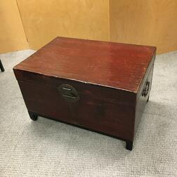 Red-painted Box on Stand