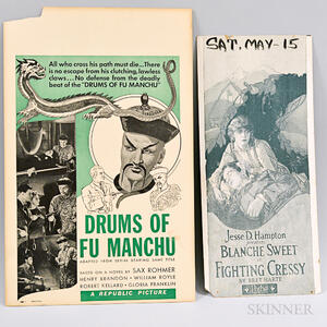 Drums of Fu Manchu and Fighting Cressy Posters