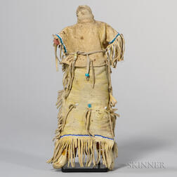 Southern Plains Beaded Hide Female Doll
