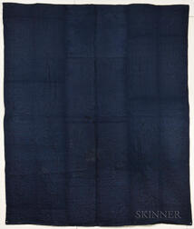 Blue Woolen Coverlet