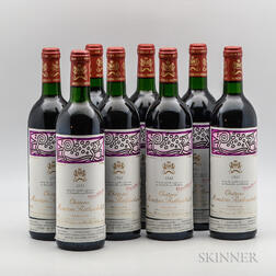 Chateau Mouton Rothschild 1988, 8 bottles