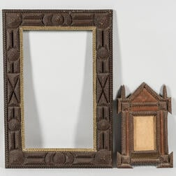 Two Elaborate Tramp Art Frames