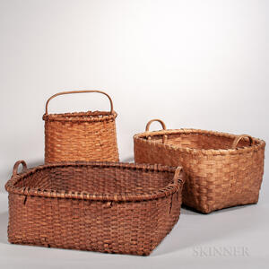Three Ash Splint Baskets